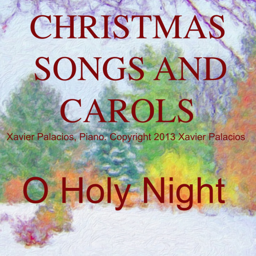 First Additional product image for - O Holy Night (Noël), Medium Voice in C Major (Mezzo/Tenor). A. Adam, J.S. Dwight. Digital score., A5 (landscape). With Piano Accompaniment with Vocal Melody Added Mp3
