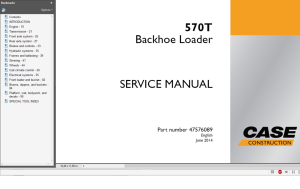 case backhoe loader 570t service manual wiring diagrams