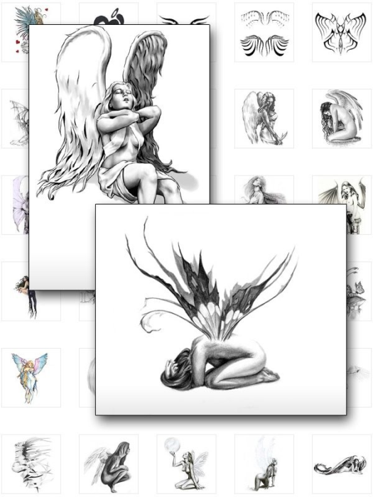 First Additional product image for - Fairies and Angels Tattoos - 75+ Rare And Beautiful Fairy And Angel Tattoos