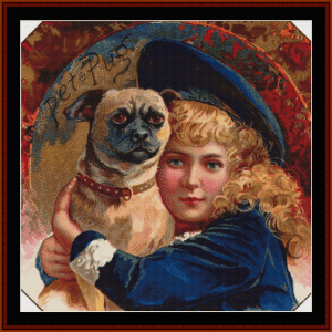 Buster Brown - Vintage Art cross stitch pattern by Cross Stitch Collectibles | Crafting | Cross-Stitch | Wall Hangings