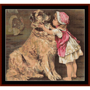 A Girl and Her Dog - Vintage Art cross stitch pattern by Cross Stitch Collectibles | Crafting | Cross-Stitch | Other