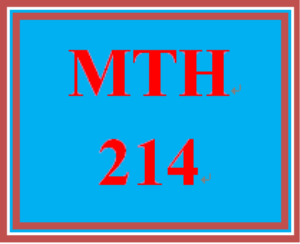 MTH 214 Week 5 Study Plan | eBooks | Education