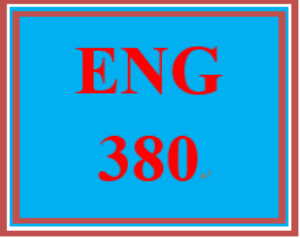 ENG 380 Week 4 Learning Team Outline and Reference List | eBooks | Education