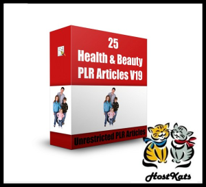 25 health & beauty plr articles v19