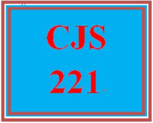 CJS 221 Entire Course | eBooks | Education