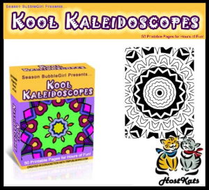 kool kaleidoscopes coloring book