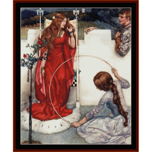 la mort d'arthur - w.r. flint cross stitch pattern by cross stitch collectibles
