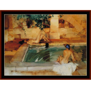 The Bathers - W.R. Flint cross stitch pattern by Cross Stitch Collectibles | Crafting | Cross-Stitch | Wall Hangings