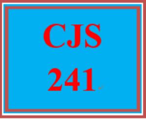 CJS 241 Entire Course   eBooks   Education
