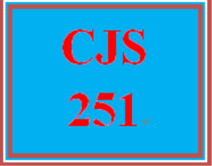 CJS 251 Entire Course | eBooks | Computers