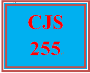 CJS 255 Entire Course | eBooks | Computers