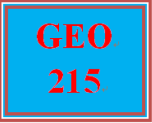 GEO 215 Week 4 Maps and Spatial Information | eBooks | Education