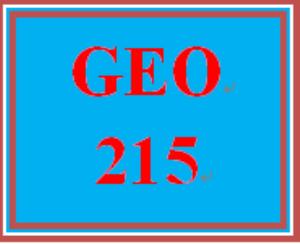 GEO 215 Entire Course | eBooks | Education