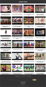 aerobics instant mobile video site