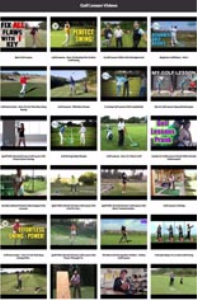golf lesson instant mobile video site