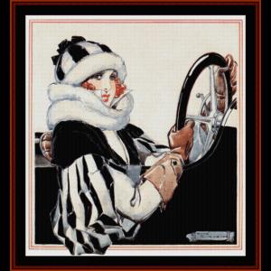 Motorist - Vintage Poster cross stitch pattern by Cross Stitch Collectibles | Crafting | Cross-Stitch | Other