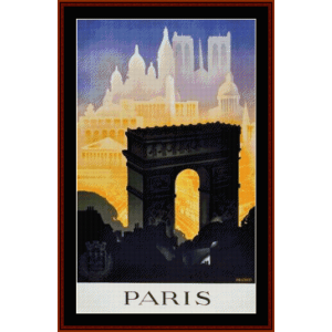 Paris II - Vintage Poster cross stitch pattern by Cross Stitch Collectibles | Crafting | Cross-Stitch | Wall Hangings