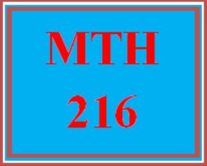 MTH 216 Week 5 Videos | eBooks | Education