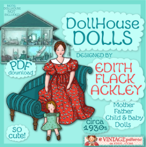 doll house family edith flack ackley efa vintage 1930s