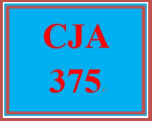 CJA 375 Week 4 Emergency Preparedness Drill Part III | eBooks | Education