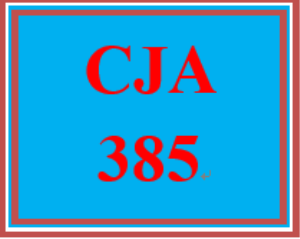 CJA 385 Week 3 Evaluation Model Paper | eBooks | Computers