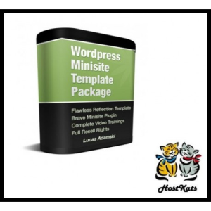 wordpress minisite template package