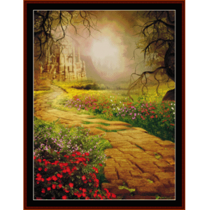 fantasy castle - fantasy cross stitch pattern by cross stitch collectibles