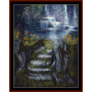 Fantasy Waterfalls - Fantasy cross stitch pattern by Cross Stitch Collectibles | Crafting | Cross-Stitch | Other