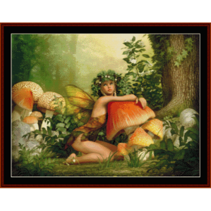 enchanted woods - fantasy cross stitch pattern by cross stitch collectibles