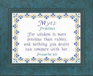 Name Blessings - Myez | Crafting | Cross-Stitch | Religious