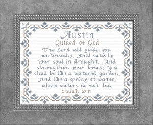 Name Blessings - Austin 2 | Crafting | Cross-Stitch | Religious