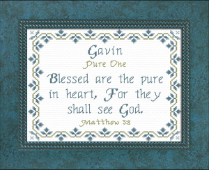 Name Blessings - Gavin 2 | Crafting | Cross-Stitch | Religious