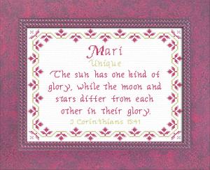 name blessings - mari
