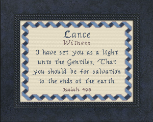Name Blessings - Lance | Crafting | Cross-Stitch | Religious
