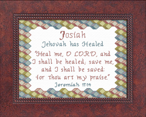 Name Blessings - Josiah 2 | Crafting | Cross-Stitch | Religious