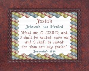 name blessings - josiah 2