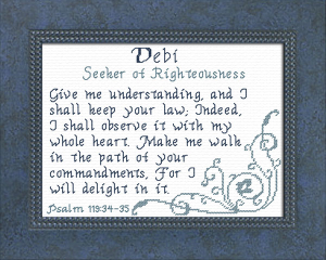 Name Blessings - Debi | Crafting | Cross-Stitch | Religious