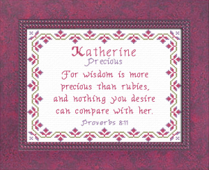 Name Blessings - Katherine 3 | Crafting | Cross-Stitch | Religious