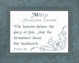name blessings - misty
