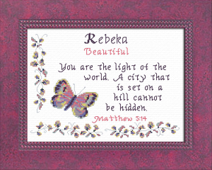 name Blessings - Rebeka | Crafting | Cross-Stitch | Religious