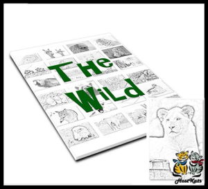 the wild coloring book package