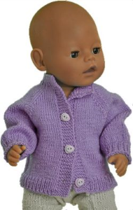 DollKnittingPatterns 2017 Cardigan uni-(Francais) | Crafting | Knitting | Other
