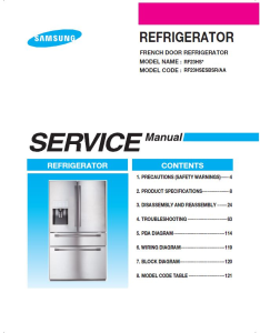 samsung rf23hsesbsr refrigerator service manual and repair instructions