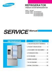 samsung rf23htedbsr refrigerator service manual