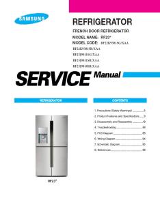 samsung rf23j9011sg rf23j9011sr rf23j9018sr refrigerator service manual