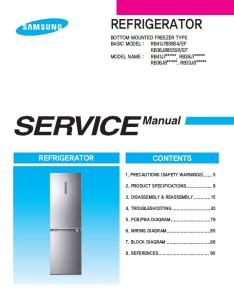 samsung rb33j8797s4 rb33j8835sr rb33j8035sr refrigerator service manual
