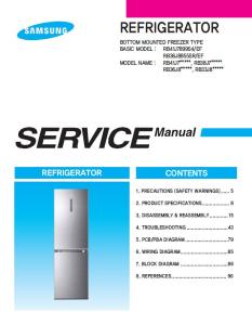 samsung rb36j8799s4 rb36j8855s4 rb36j8215sr refrigerator service manual