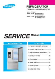 samsung rf28hdedtsr rf28hdedbsr refrigerator service manual