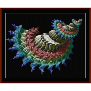 Fractal 654 cross stitch pattern by Cross Stitch Collectibles | Crafting | Cross-Stitch | Wall Hangings