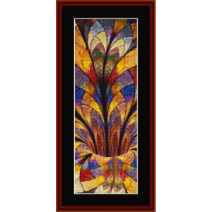 fractal 650 bookmark cross stitch pattern by cross stitch collectibles